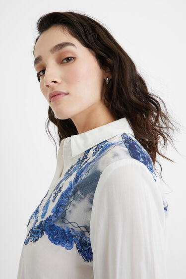 Embroidered paisley shirt | Desigual
