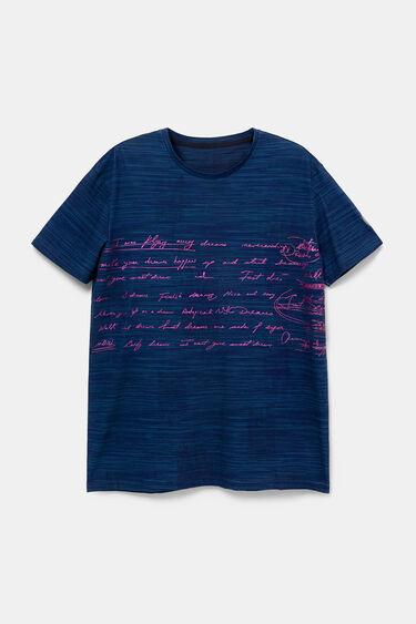 Pink calligraphic text T-shirt | Desigual