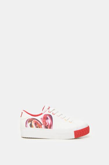Platform sneakers heart | Desigual