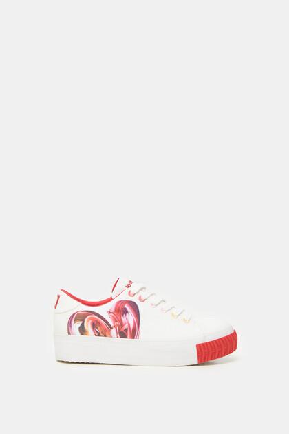 Platform sneakers heart