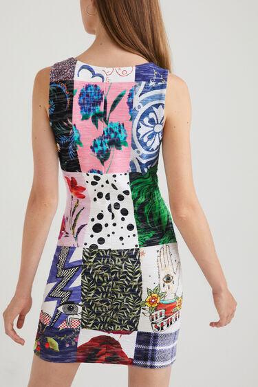 Vestito slim patch scollatura quadrata | Desigual