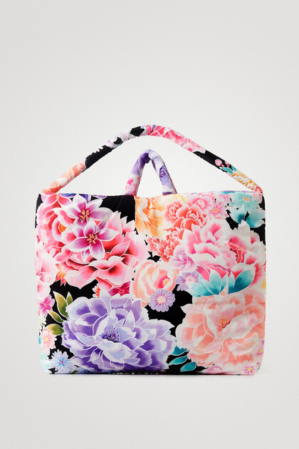 Oversize-Tasche mit Blumen