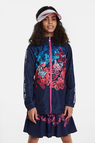 Multicolour butterflies jacket
