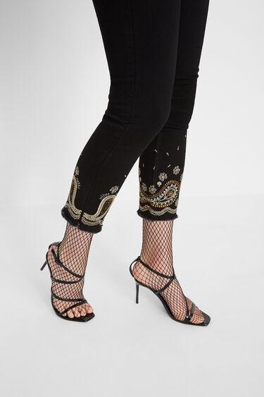 Pantalon en jean skinny chevilles | Desigual