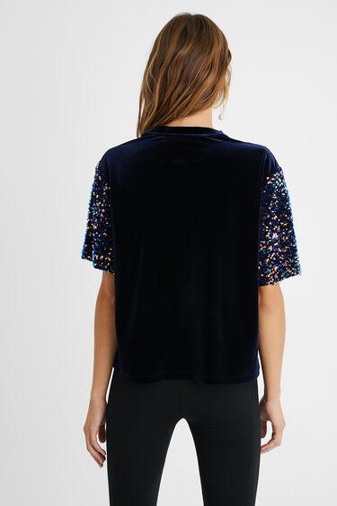 T-shirt effet velours sequins | Desigual