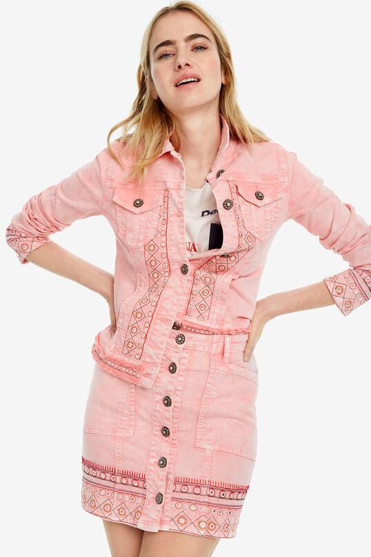 Short pink flared skirt Boho   Desigual