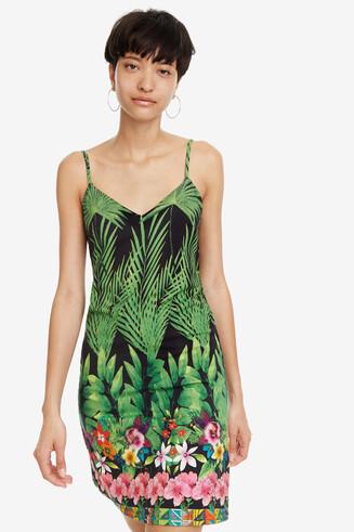 Trägerkleid mit Tropenprint Annette