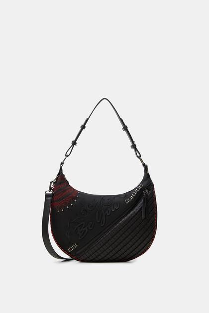 Half-moon embossed bag