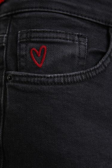 Spodnie dżinsowe do kostki z szerokimi nogawkami | Desigual