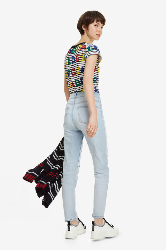 Colour Embroidery Mum Jeans Rhomb | Desigual