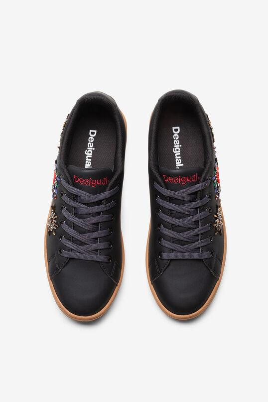 Sneakers pell sintètica brodada | Desigual