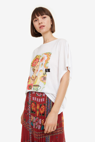 Dames T-shirtmet print