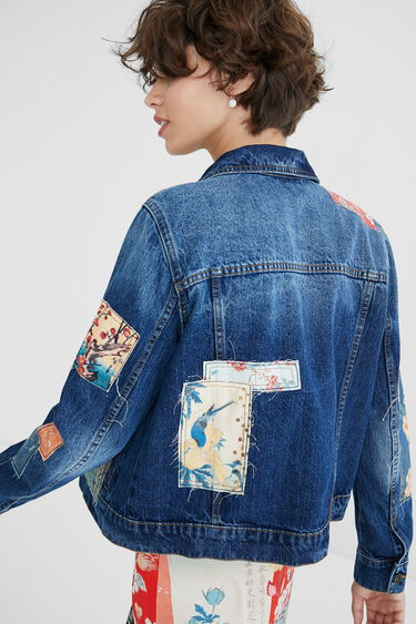 Jaqueta texana slim pedaços | Desigual