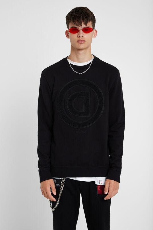 Sweatshirt omgekeerde D van badstof | Desigual