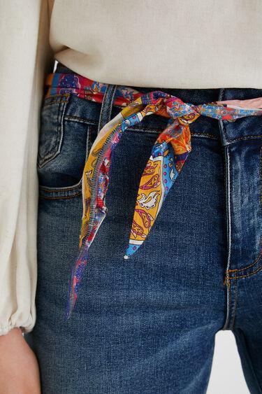 Denim shorts with fabric belt | Desigual
