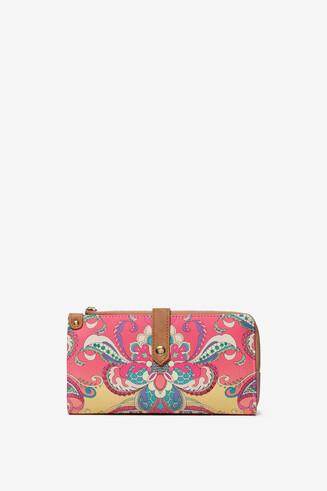 Langwerpige roze portemonnee Ester