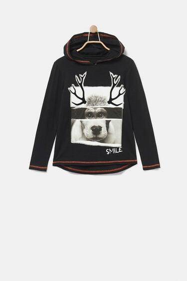 Cotton hooded sweatshirt | Desigual