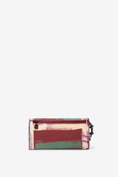 Dwustronny portfel z nadrukiem w stylu arty | Desigual