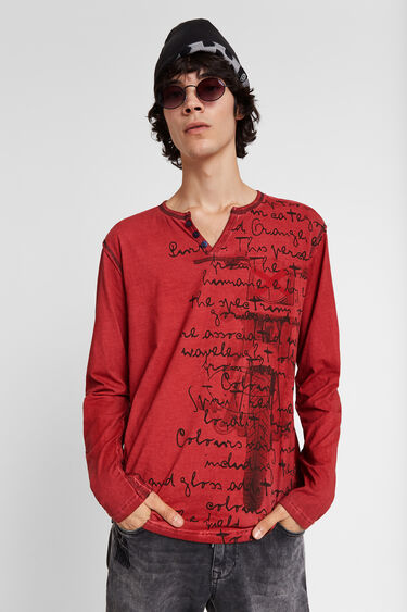T-shirt moto message | Desigual
