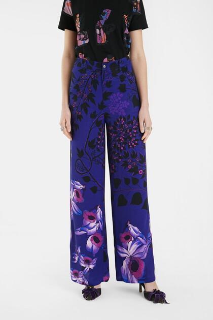 Wide leg trousers flowers