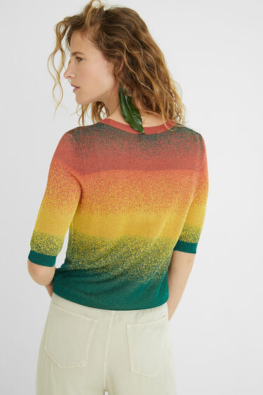 Knit jumper metallic colours | Desigual