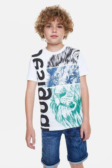 T-shirt lion stylomania | Desigual