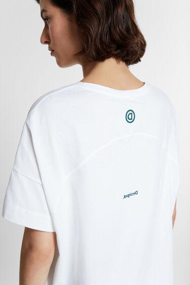 Organic reverse D floral T-shirt | Desigual