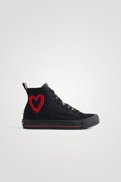 Sneakers hoher Schaft Stickerei