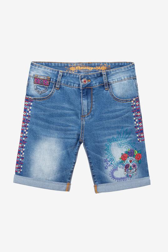 Skull Denim Shorts Catrina | Desigual