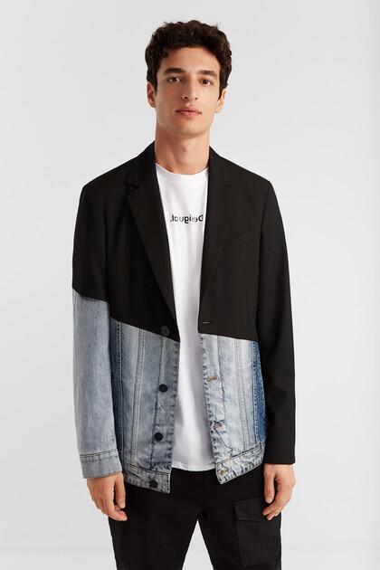 Hybride jas met blazer en jack