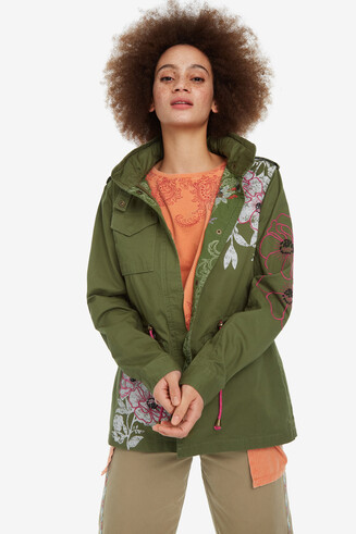 Parka patches Flor