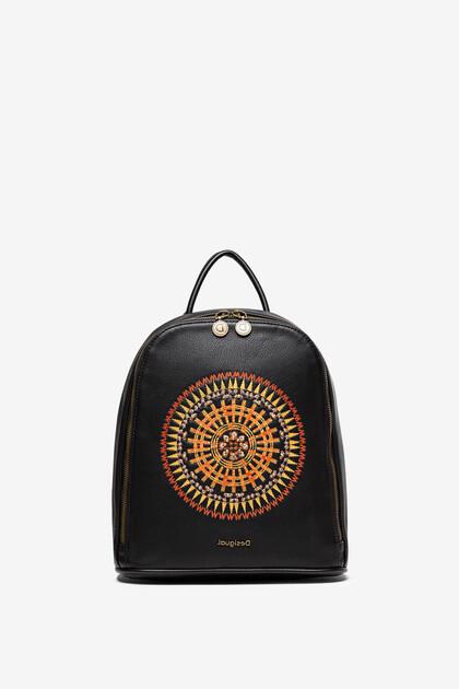Mini plecak z mandalą w stylu afrykańskim
