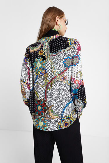 V-neck blouse print | Desigual