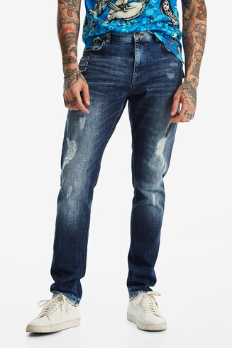 Pantaloni denim slim