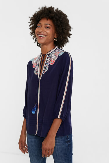 Bluzka w ornamentalne motywy i mandale | Desigual