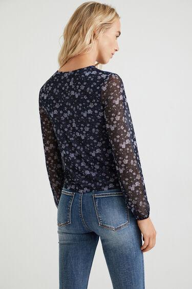 Tüll-Shirt Blumen   Desigual
