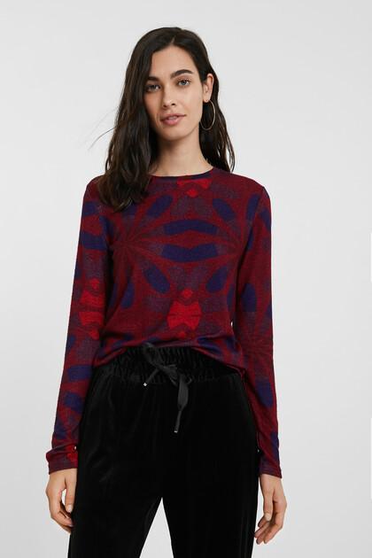 Slim floral jumper