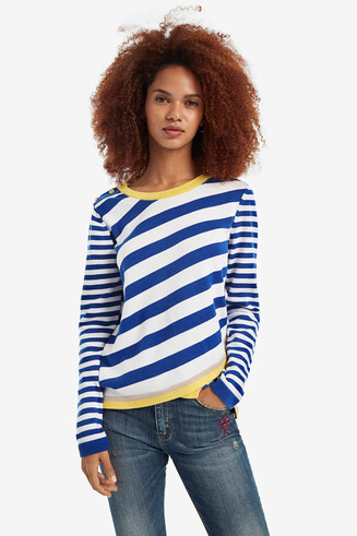Diagonal Stripe Jumper Saligna