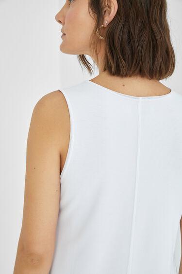 Camiseta sin mangas tul flores | Desigual