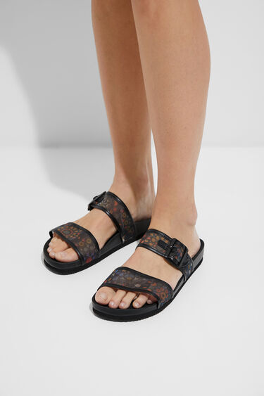 Sandals printed straps with buckle | Desigual