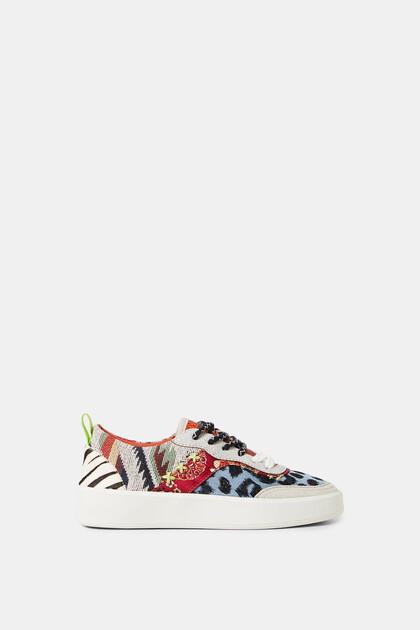 Sneakers dicke Sohle Denim-Patch