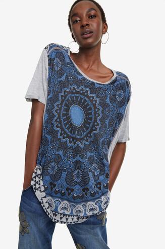 T-shirt met mandalaprint Bristol