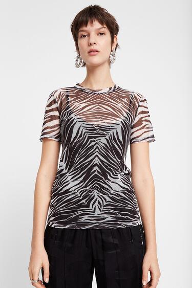 Sheer zebra T-shirt | Desigual