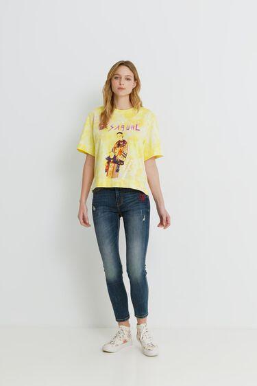 Message illustration short T-shirt | Desigual