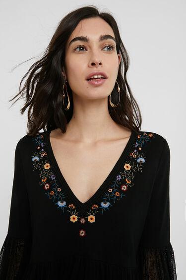 Camiseta avolantada flores | Desigual