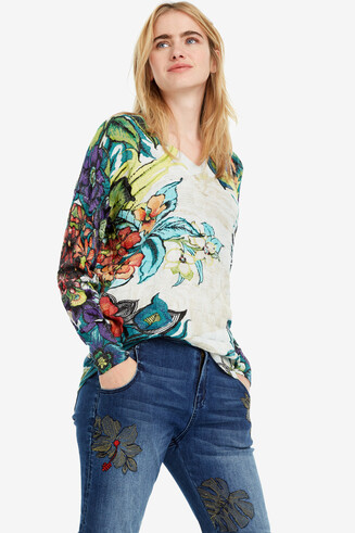 Oversize floral jumper Swords
