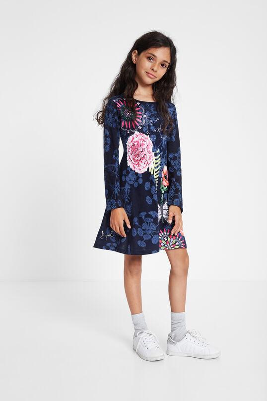 Ruffled flared floral dress   Desigual