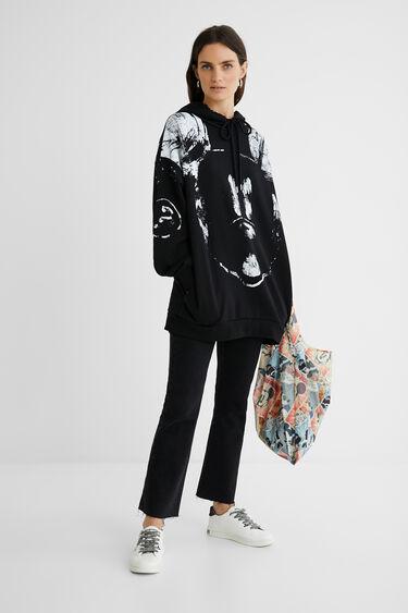 Oversize-Sweater Kapuze Baumwolle | Desigual