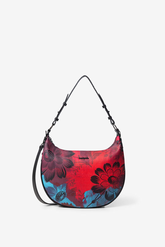 Crescent shoulder bag flowers | Desigual