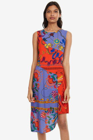 Multilayer asymmetric dress Tiwa